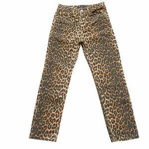 ZARA TRF Collection Leopard Jeans Size 4 Inseam 27